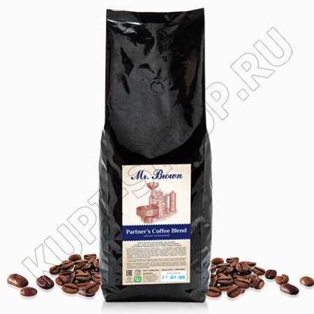 Кофе в зернах Mr. Brown Partners Coffee Blend (100% Робуста), 1 кг