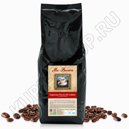 Кофе в зернах Mr. Brown Espresso Pocos De Caldas (80% Арабика/20% Робуста)