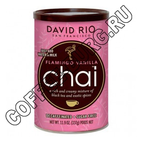 Чай латте David RIO Flamingo Vanilla Decaf Sugar-Free Chai 337г